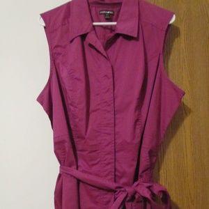 Sleeveless Fashion Bug Dress with tie waist